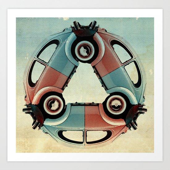 back end triangle - Bug Art Print