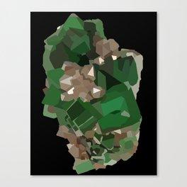 Fluorite Cluster Canvas Print