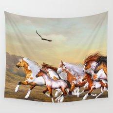 Wild Horses Herd Wall Tapestry