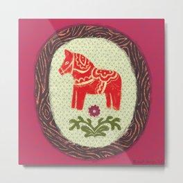 Dala Horse Metal Print