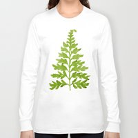 lime Long Sleeve T-shirts featuring Lime Fern by Cat Coquillette
