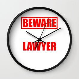 Law Student School Beware My Aunt is a Lawyer Gift Wall Clock