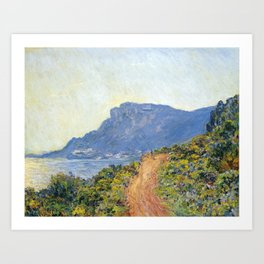1884-Claude Monet-La Corniche near Monaco Art Print