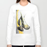 feet Long Sleeve T-shirts featuring Crystal Feet by Latidra Washington