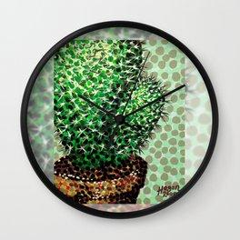 Cactus Pot Wall Clock