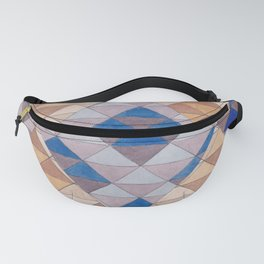 Triangle Pattern No. 13 Shifting Purple and Ochre Fanny Pack