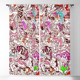 Kamasutra LOVE - Candy Cane Red Blackout Curtain