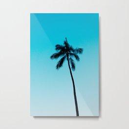 palm tree ver.skyblue Metal Print