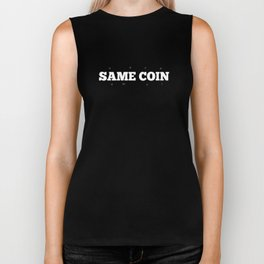 Same Coin - Blue Biker Tank
