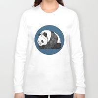 pandas Long Sleeve T-shirts featuring Pandas by Diana Hope