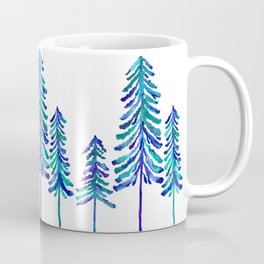 Pine Trees – Navy & Turquoise Palette Coffee Mug