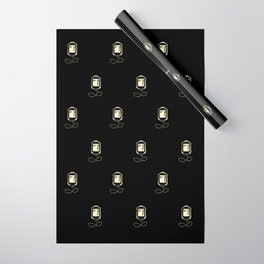 Coffee Transfusion - Black Wrapping Paper