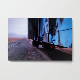 Hoppin the Train Metal Print