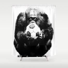 Soccer Chimp Shower Curtain
