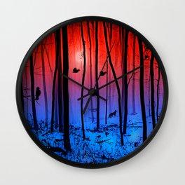 Mystical forest Wall Clock