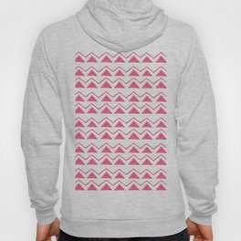 Hand painted pink watercolor aztec geometrical pattern Hoody