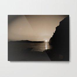 Sunset in Santorini Metal Print
