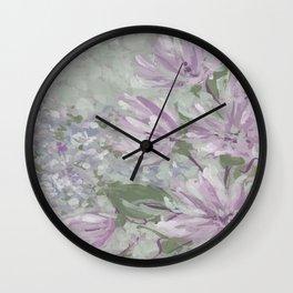 monet floral Wall Clock