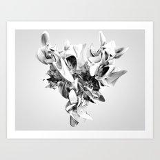 Twist Of Heart - White Art Print
