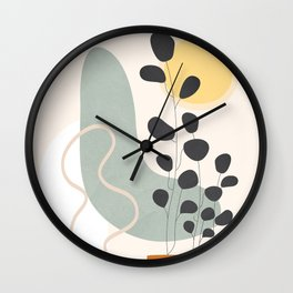 Abstract Geometry 44 Wall Clock