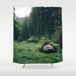 Forest Field - Landscape Photography Shower Curtain