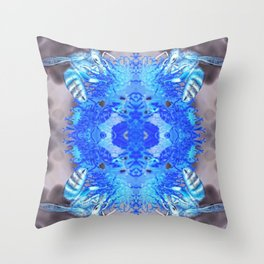 electric bees Throw Pillow