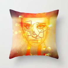 The Girl UnWound Throw Pillow