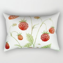 Wild Strawberries Rectangular Pillow