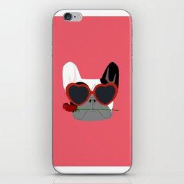Valentines Bulldog iPhone Skin