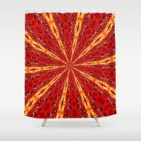novelty Shower Curtains featuring FALL KALEIDOSCOPE  by Teresa Chipperfield Studios