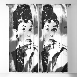 Audrey in B&W Blackout Curtain