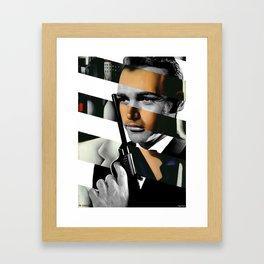 Tamara De Lempicka's Portrait of Count Vettor Marcello & Sean Connery in James Bond Framed Art Print