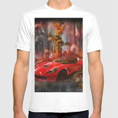 Driving Into A Strange New World Mens Fitted Tee MEDIUM White
