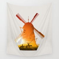 giants Wall Tapestries featuring Fighting Giants (light version) by DV designstudio
