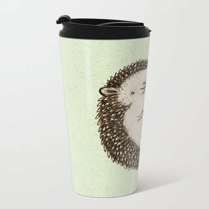 Plump Hedgehog Metal Travel Mug