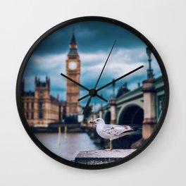 Seagull at Big Ben (Color) Wall Clock