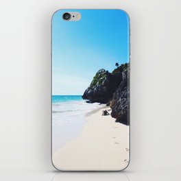 Footprints in Tulum iPhone Skin