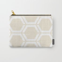 Eggshell - piink - Geometric Polygon Pattern Carry-All Pouch