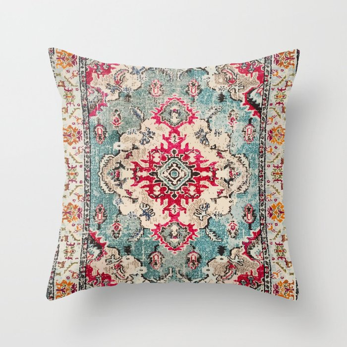 N132 - Heritage Oriental Traditional Vintage Moroccan Style Design Throw Pillow