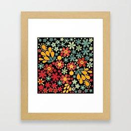 Retro.  Floral motifs Framed Art Print