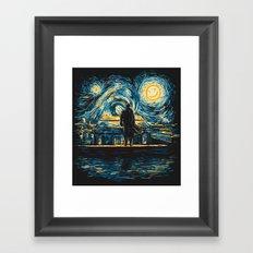 Starry Fall (Sherlock) Framed Art Print