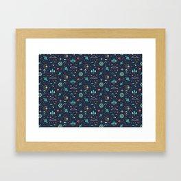 Lets take a walk (it's dark) pattern Framed Art Print