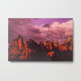Rose Colored Landscape Metal Print