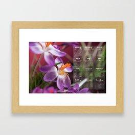 Calendar 2016 Framed Art Print