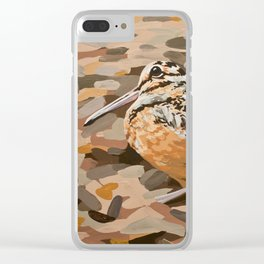 American Woodcock Clear iPhone Case