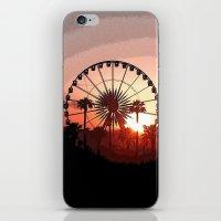 coachella iPhone & iPod Skins featuring Coachella Sunset 2 by Lauren Haney
