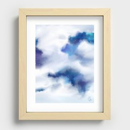 Amongst the Clouds Recessed Framed Print
