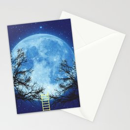 A Ladder to the Moon Stationery Cards