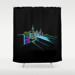 Vibrant city 2 Shower Curtain