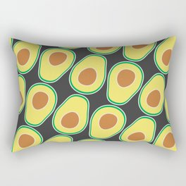 Avocado Pattern (Black) Rectangular Pillow